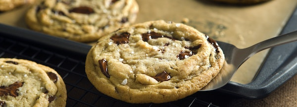 A sprinkling of sea salt just before baking adds a distinctive dimension to chocolate chip cookies.