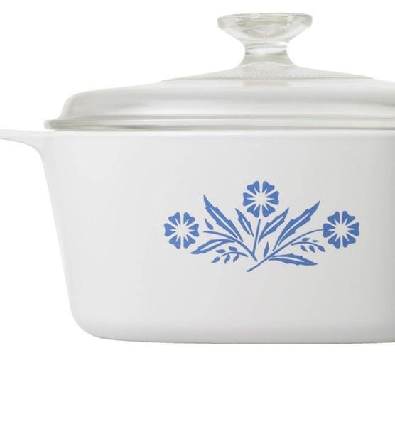 Classic blue cornflower corningware dish. PR photo