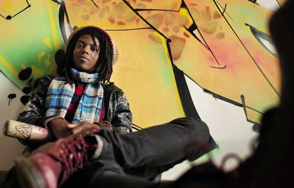 "St. Paul rapper Joshua Evans (aka Dem Atlas) showed his ""grunge meets neo-punk"" style."