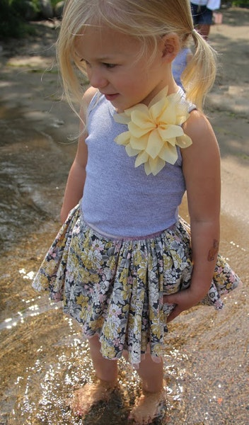 Lotus Flower Vintage Specialty Tutu ($89.95) by Oh Baby!