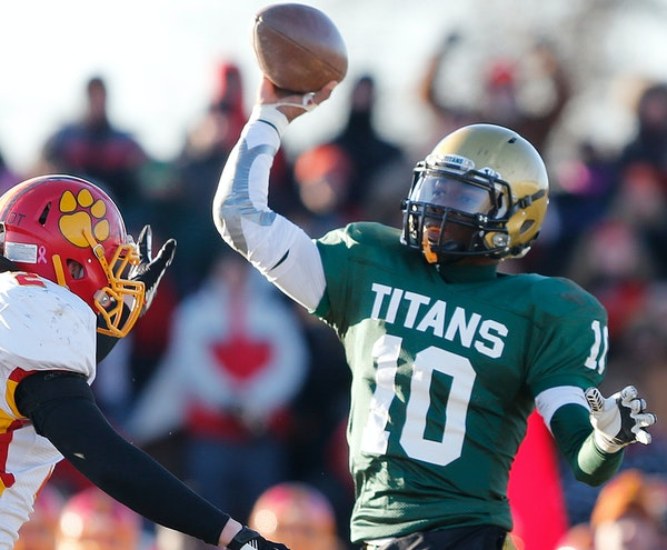 Boylan Catholic's Demry Croft first played varsity QB in the second game of his junior year, turning a 21-0 deficit into a 35-34 win.