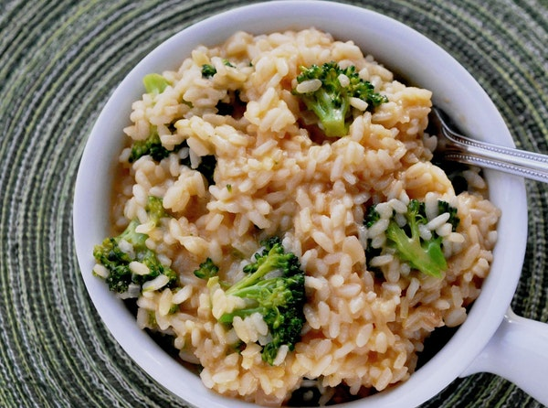 Broccoli Cheese Risotto