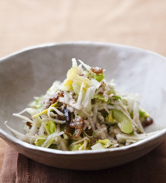 Celery and Pancetta Salad. Credit: Quentin Bacon
