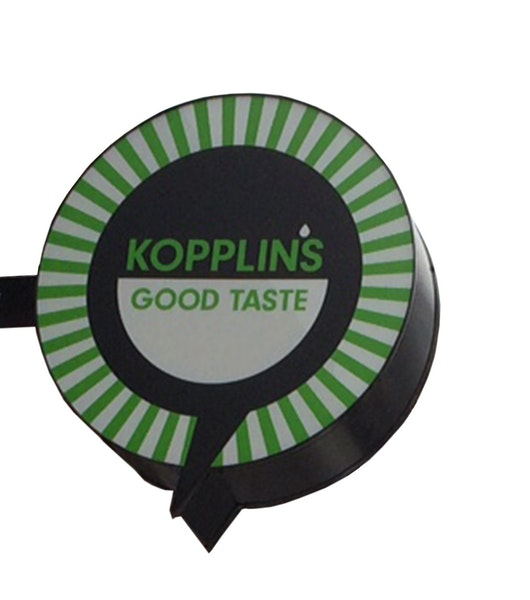 Sign from Kopplin's Coffee.