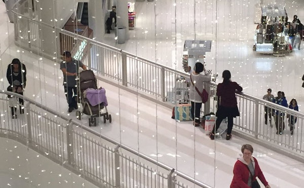 Store clerks reported that Sunday was a typical weekend day at the Mall of America.