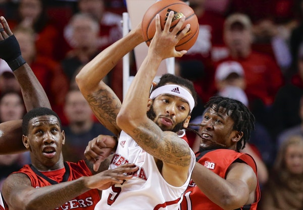 Nebraska's Terran Petteway (5) is playing better this season but being criticized more as the Huskers (10-7, 2-3) struggle.