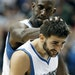 Wolves point guard Ricky Rubio, right, got a congratulatory head push from Kevin Garnett after a basket in the second half against the Portland Trail