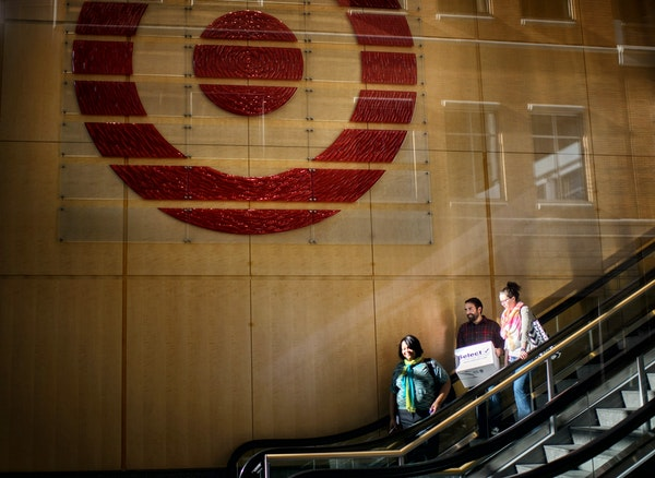 As many as 1700 Target employees were laid off Tuesday morning. This is the downtown Minneapolis corporate headquarters.