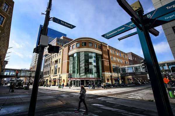 Nicollet Mall Target. Target's presence in downtown Minneapolis may change with Tuesday's layoff announcement.
