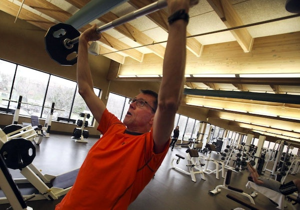 FILE -- Dave Thoen worked out at Life Time Fitness in Eden Prairie on Thursday, May 2, 2013.