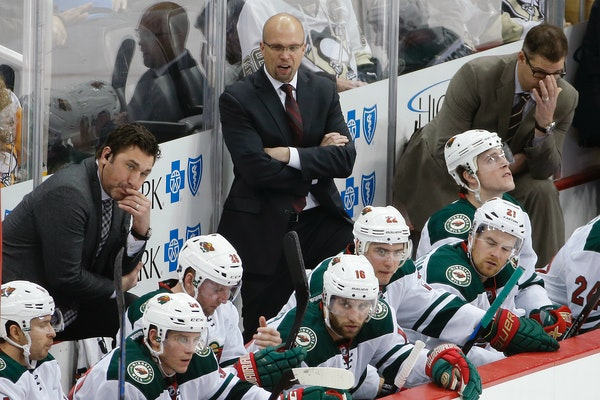 Wild coach Mike Yeo and his staff face a tough task: rallying a team from 12th place in the Western Conference to a playoff position.
