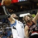 Wolves center Nikola Pekovic went up for a layup against Portland's Robin Lopez in the first quarter Saturday night. Pekovic scored 11 points and gr