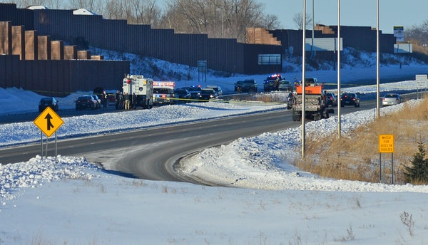 Police surrounded a vehicle on eastbound Hwy. 212 between Hwy. 101 and Dell Road in Eden Prairie on Feb. 7, 2014, after the driver led them on a high-
