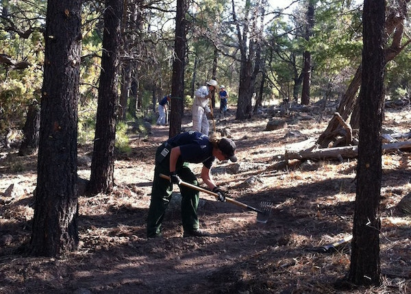Trail building on the Continental Divide