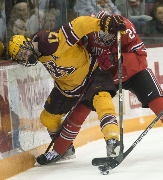 The Gophers and Buckeyes met last month in a physical two-game series, which Minnesota swept 4-2 and 6-2.