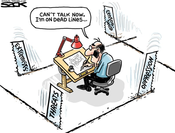 Sack cartoon: Cartooning in today's world