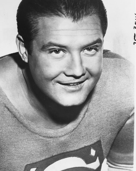 George Reeves starred as Superman in the 1950s movie and television series.