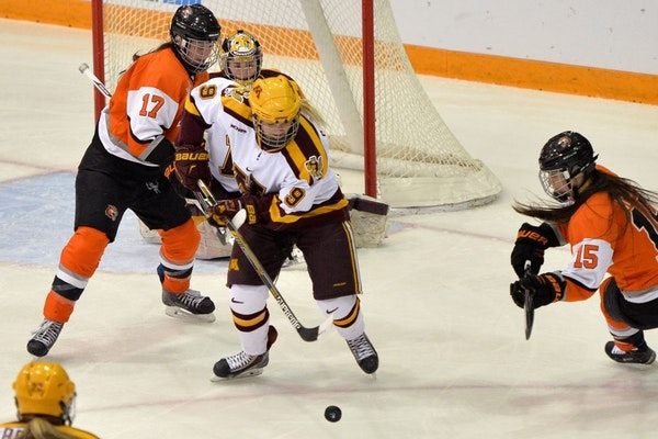 Sydney Baldwin and the rest of the Gophers women's hockey are back in action again at Ridder Arena, a week after beating RIT in the NCAA quarterfinal