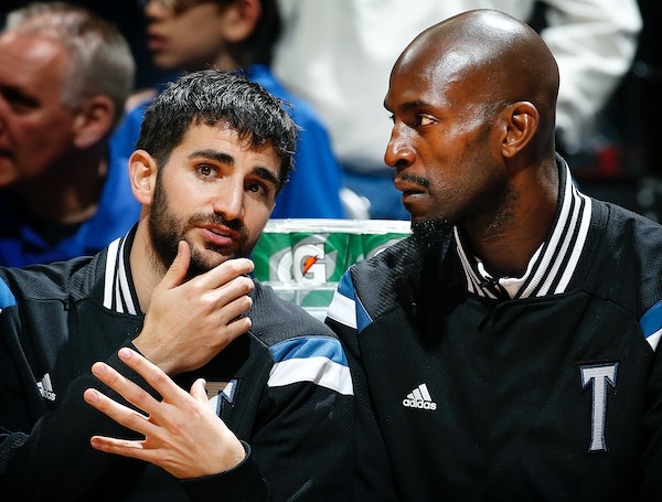 Ricky Rubio and Kevin Garnett were just two of seven Wolves players who missed Monday's loss to Brooklyn because of injuries.