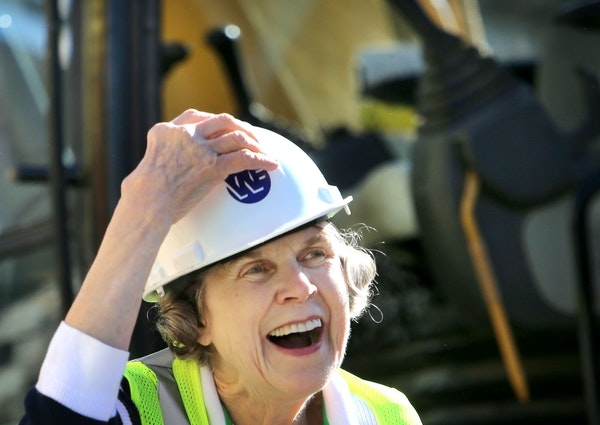 Sharing and Caring Hands founder Mary Jo Copeland helped tear down the building that housed her dream for 30 years Thursday in Minneapolis.