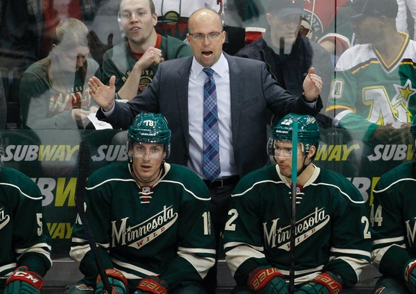 Wild coach Mike Yeo argued his point during Saturday's 3-2 shootout loss to Detroit. The Wild can clinch a playoff berth if it beats Winnipeg in regul