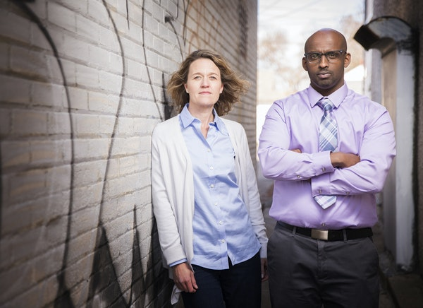 Mary McKinley and Ahmed Amin of the nonprofit Heartland Democracy