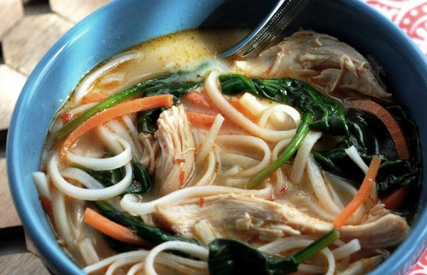 Thai Chicken Noodle Soup can help make spring cold sufferers feel a little better.