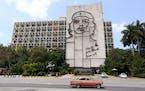 Plaza de la Revolucion in Havana, Cuba on Wednesday, May 13, 2015.