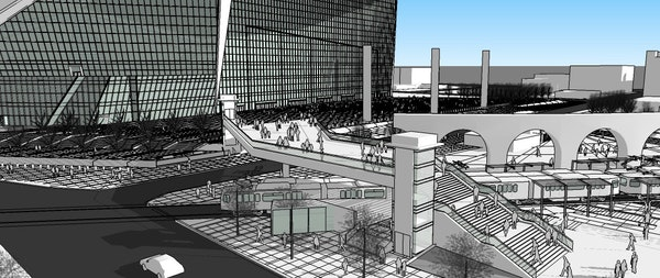 The Metropolitan Council will consider a new deal to build a $6 million pedestrian bridge near the new Vikings stadium that calls for the team to pay