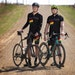 Sean Mailen, left, and Ben Witt are immersed in the gravel cycling trend: Both work for Salsa Cycles, and they also ride regularly. They're shown ab