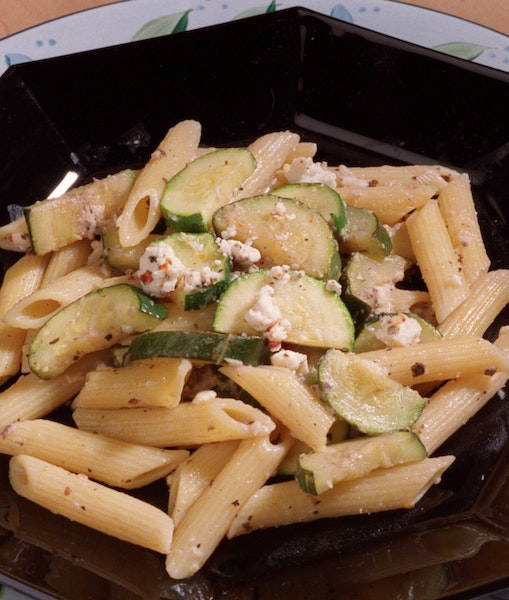 Penne With Zucchini and Feta: a quick and flavorful meal.