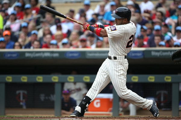 Twin Eddie Rosario hit a single for an RBI in the second inning.