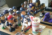 A few rows of bobbleheads were displayed at a recent collectors convention.