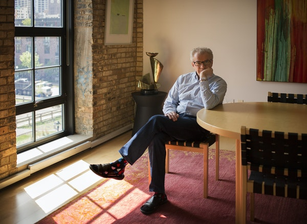 Osmo Vänskä sat in the dining room of his loft condo in the Mill District.