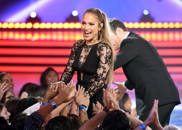 """Judge Jennifer Lopez greeted fans at the """"American Idol"""" finale in Los Angeles on Wednesday. The upcoming season will be the last."""