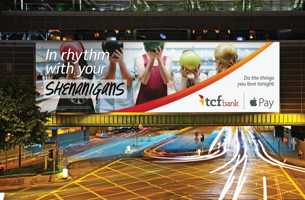 TCF Financial Corp. TCF's new ad campaign includes television spots; bright print, digital and outdoor advertising; new-look debit cards, and a rede