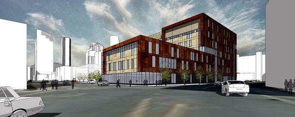 The new Ambulatory Outpatient Specialty Center planned for a site across 8th Street from the Hennepin County Medical Center