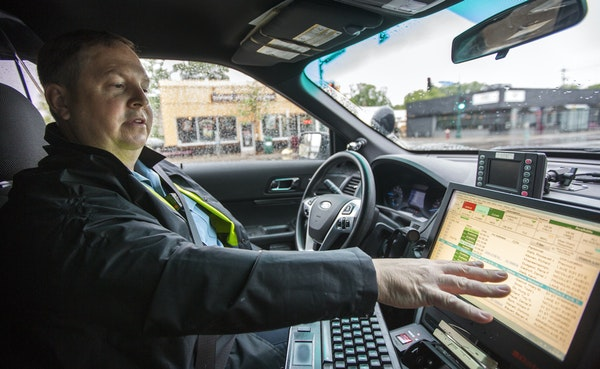 Minneapolis police Lt. Todd Gross can run a plate on his computer and see whether the driver has a valid driver's license.