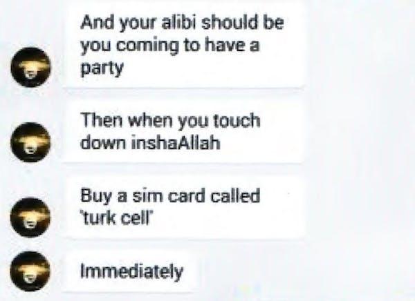 Excerpt of text conversation