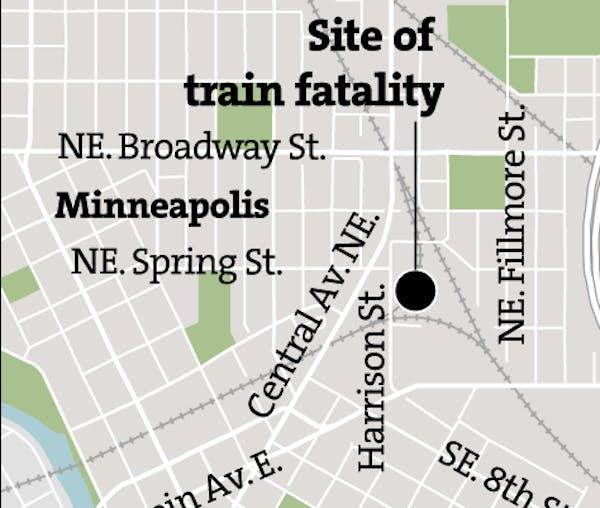 Site of Minneapolis rail yard fatality
