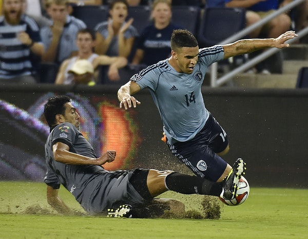 Sporting Kansas City defeated Minnesota United FC 2-0 in the fourth round of the Lamar Hunt U.S. Open Cup at Sporting Park Wednesday, June 18, 2014.
