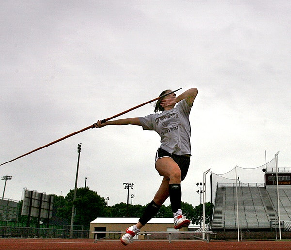 A University of Minnesota javelin thrower practiced at Bierman track in 2008. An anonymous complaint said Gophers women's sports have become an afte