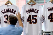 John Cwodzinski, who works at the Twins' Target Field store, checked through the stock of jerseys in preparation for Friday's game against Milwauk
