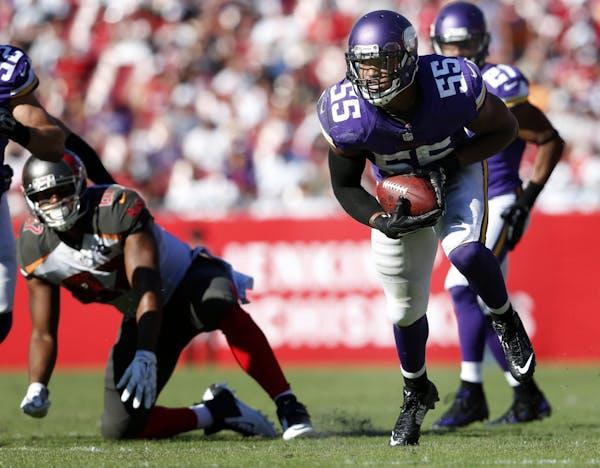 Minnesota Vikings linebacker Anthony Barr (55)