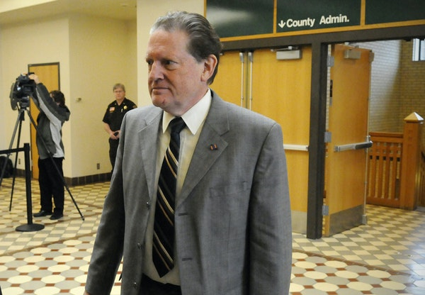 Byron Smith walks into the courtroom to hear the verdict in his murder trial in Little Falls, Minn., Tuesday, April 29, 2014. Smith was found guilty o