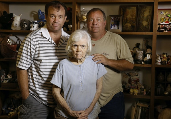 Kent, left, and Mark Olds had to step in to help their mother, Gail — who is 80 and has dementia — after her caregiver stole $7,500 from her.