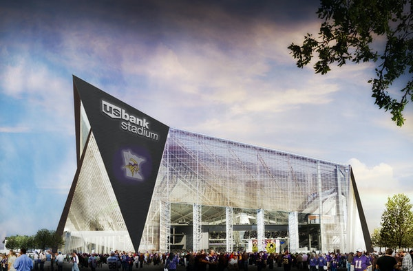 U.S. Bank will pay about $10 million a year for stadium naming rights.