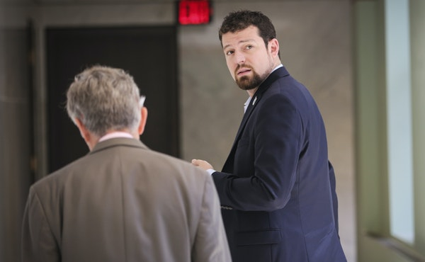 Nick Rogers, president of Minnesota United FC, met with Minneapolis city leaders Friday at City Hall to discuss a downtown soccer stadium. A site in S