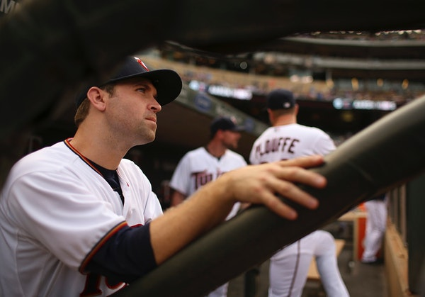 Brian Dozier sat in the dugout waiting to take the field Thursday night.