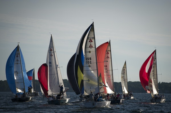 Capri 25 class sailboats raced June 25 on Lake Minnetonka. Some weekday races can draw as many as 500 participants from across the Twin Cities area.